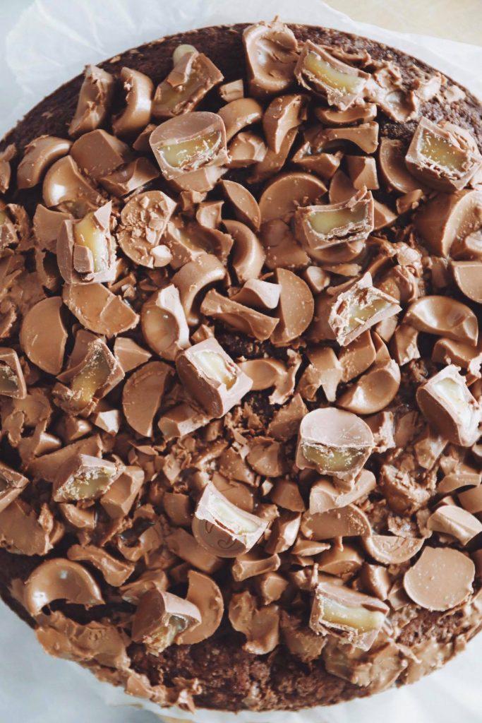 Kladdkaka med mælkechokolade og Center