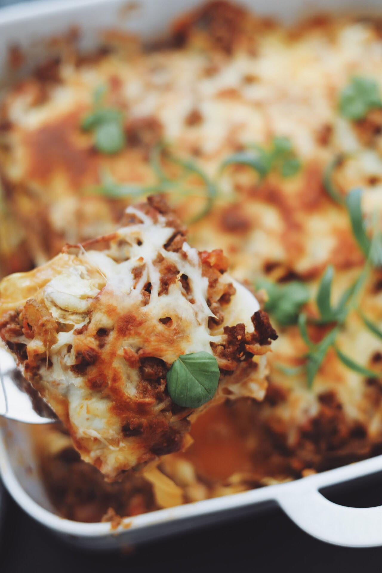 Lækker lasagne med spidskålsplader