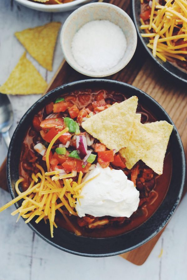 Chili sin carne med tomatsalsa