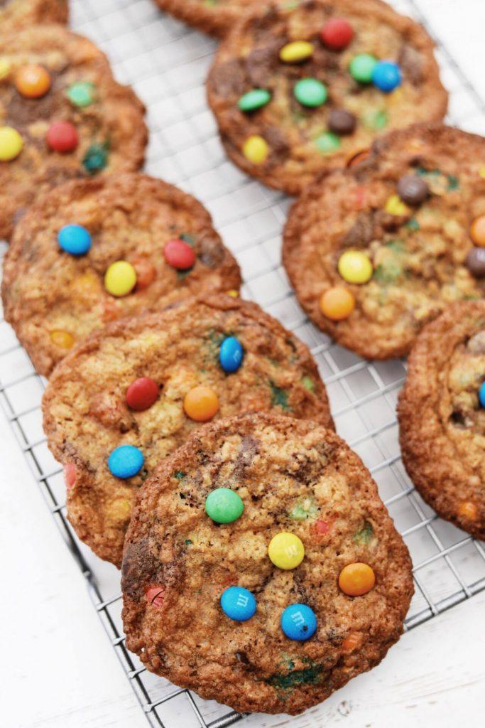 Cookies med M&Ms