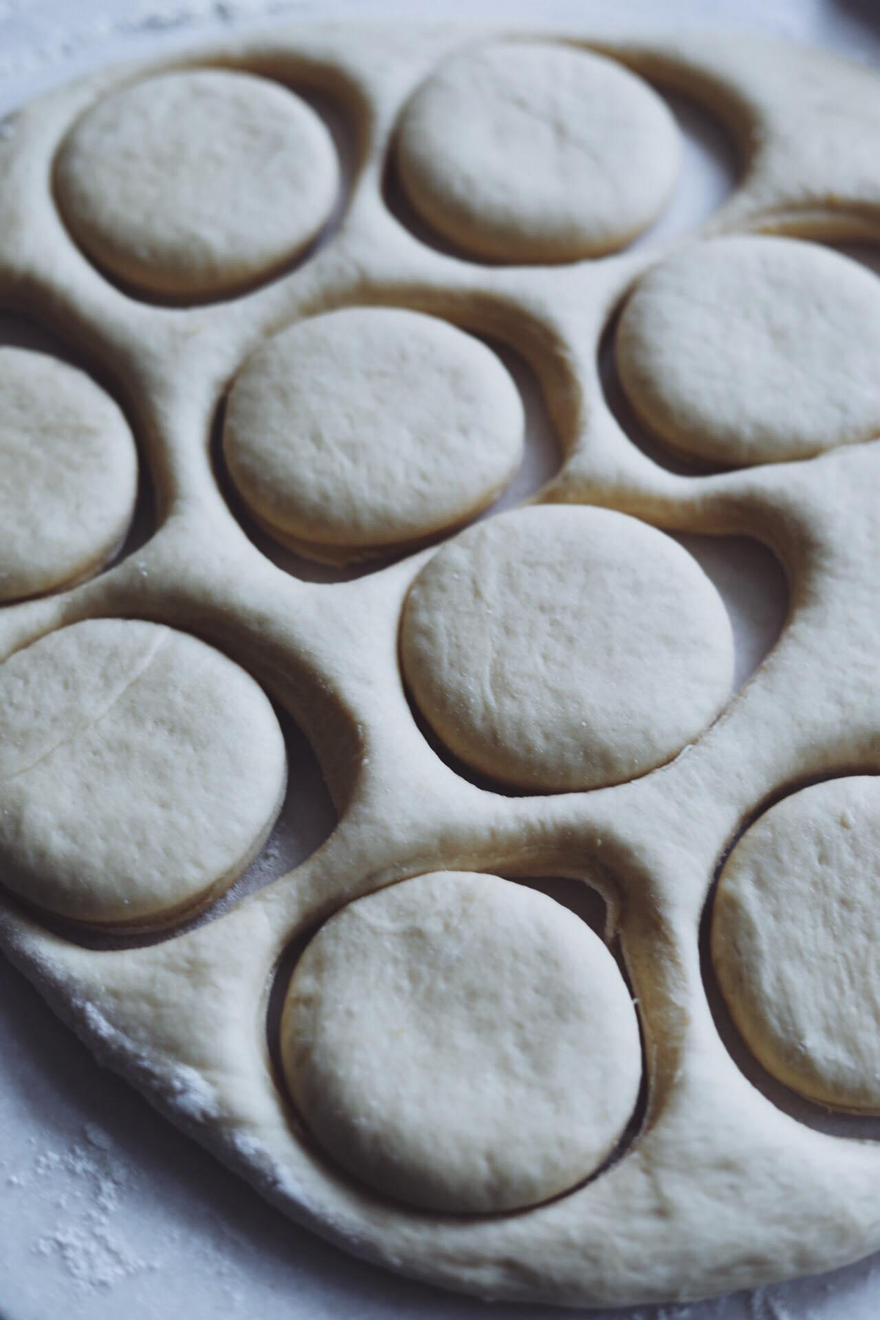 Donuts med nutella ganache