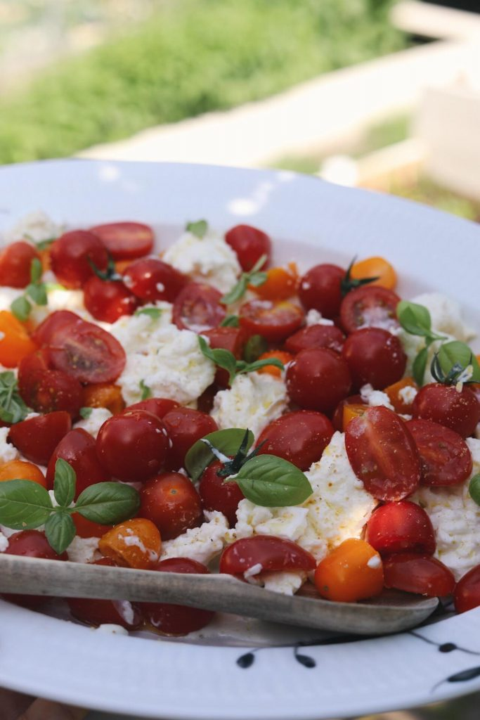 Luksus tomatsalat med cremet mozzarella