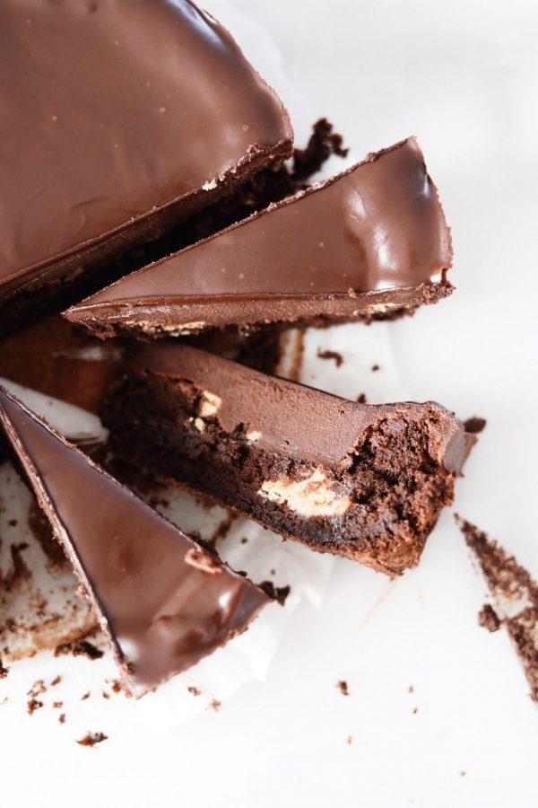 Glutenfri brownie med peanutbutter og ganache