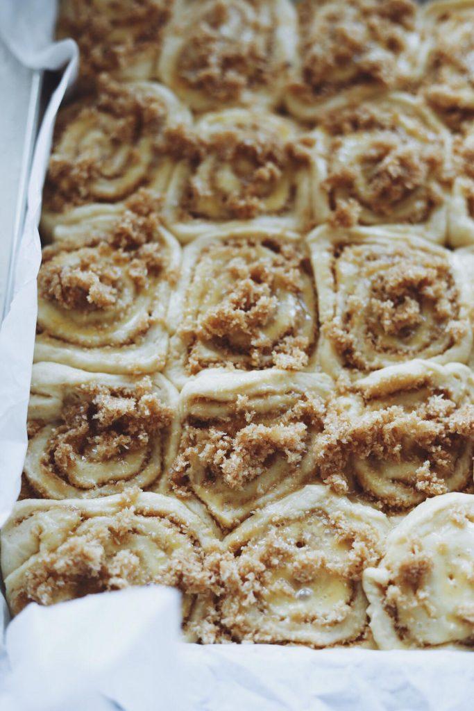 Snegle med drømmekage fyld