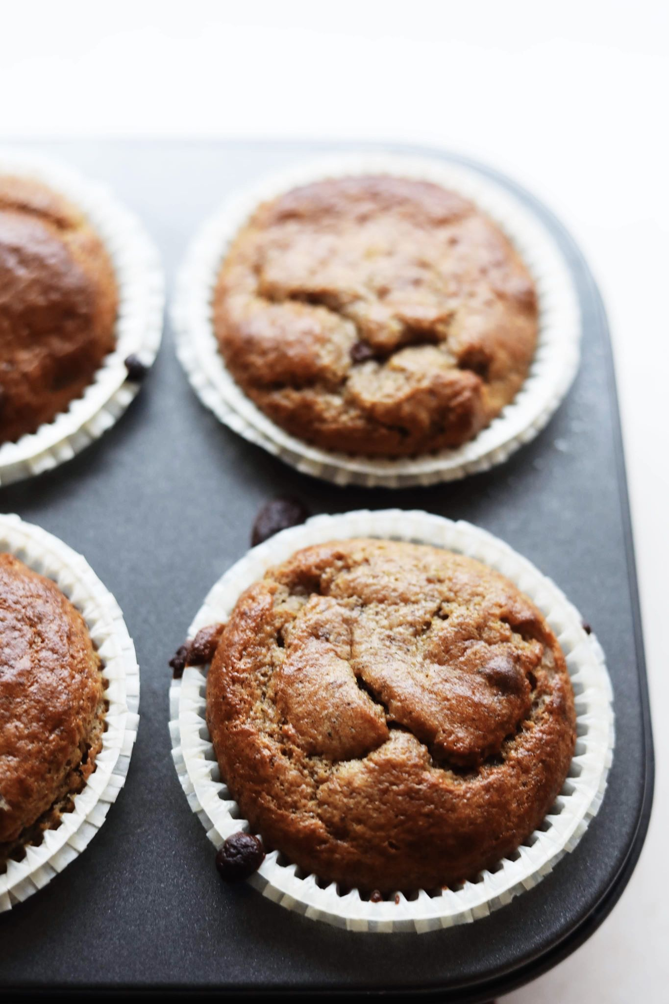 Fredagshygge- Sundere bananmuffins med chokolade