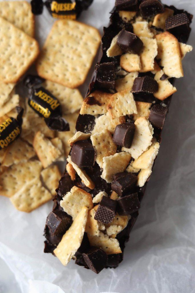 Fredagshygge- Chokoladebarer med saltkiks og karamel