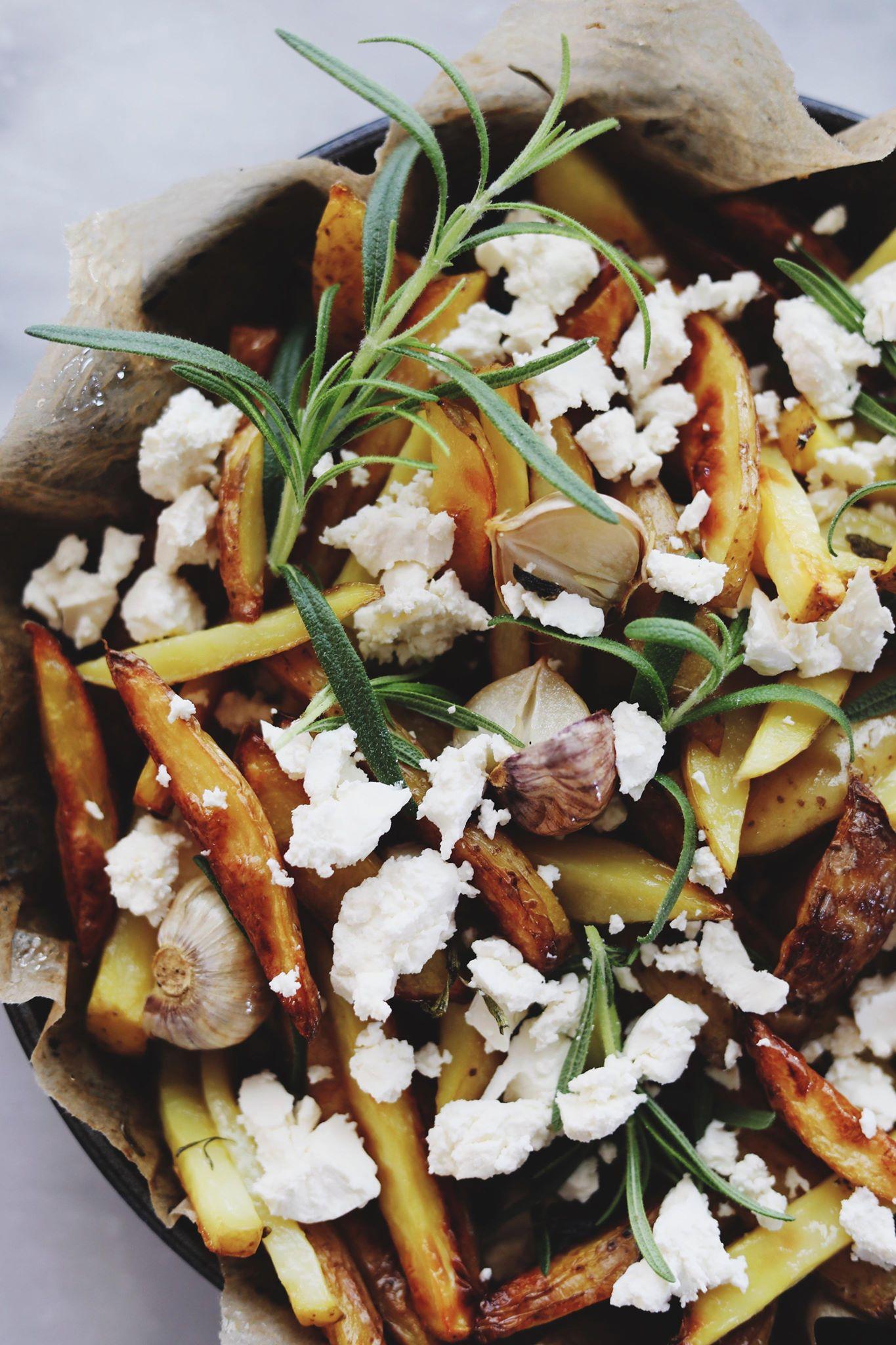 Luksus fritter med feta og urter