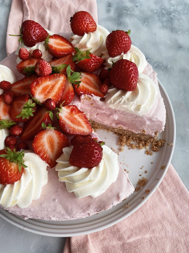 Jordbærcheesecake