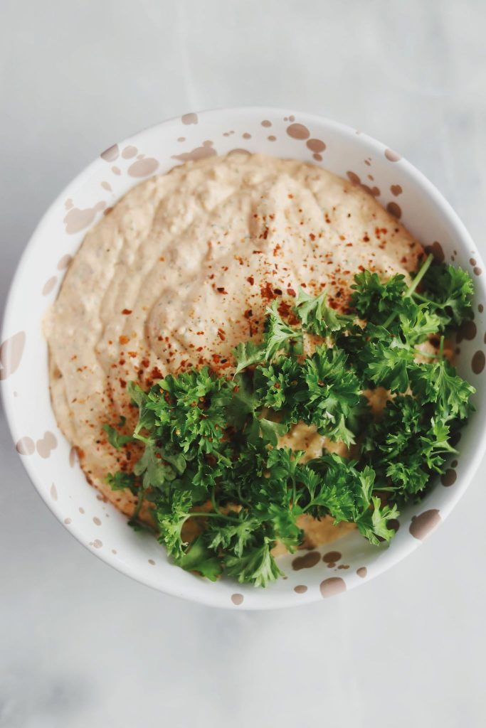Haydari med peberfrugt og feta
