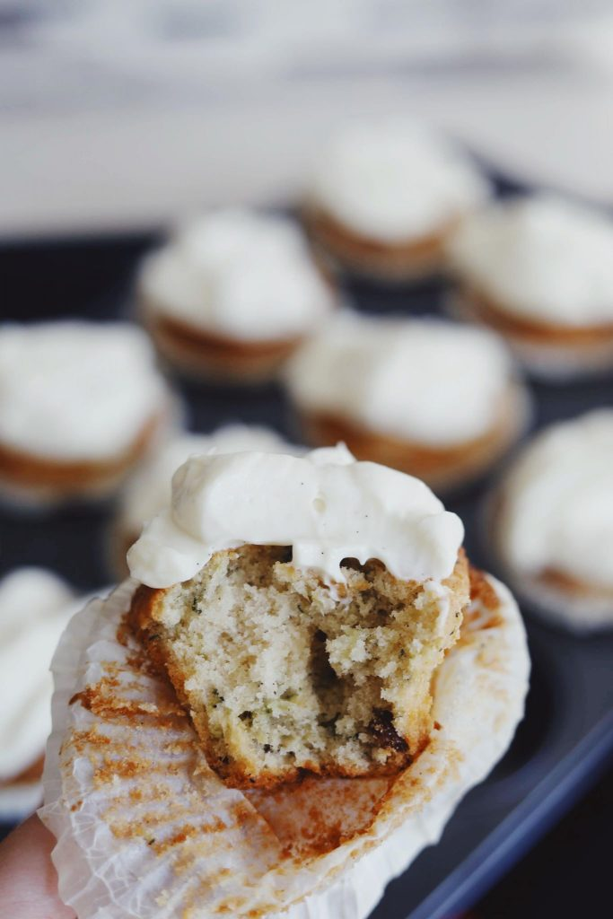 Squashmuffins med cream cheese frosting