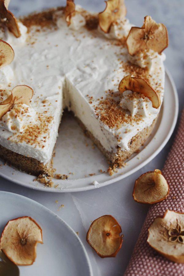 Æblekage cheesecake
