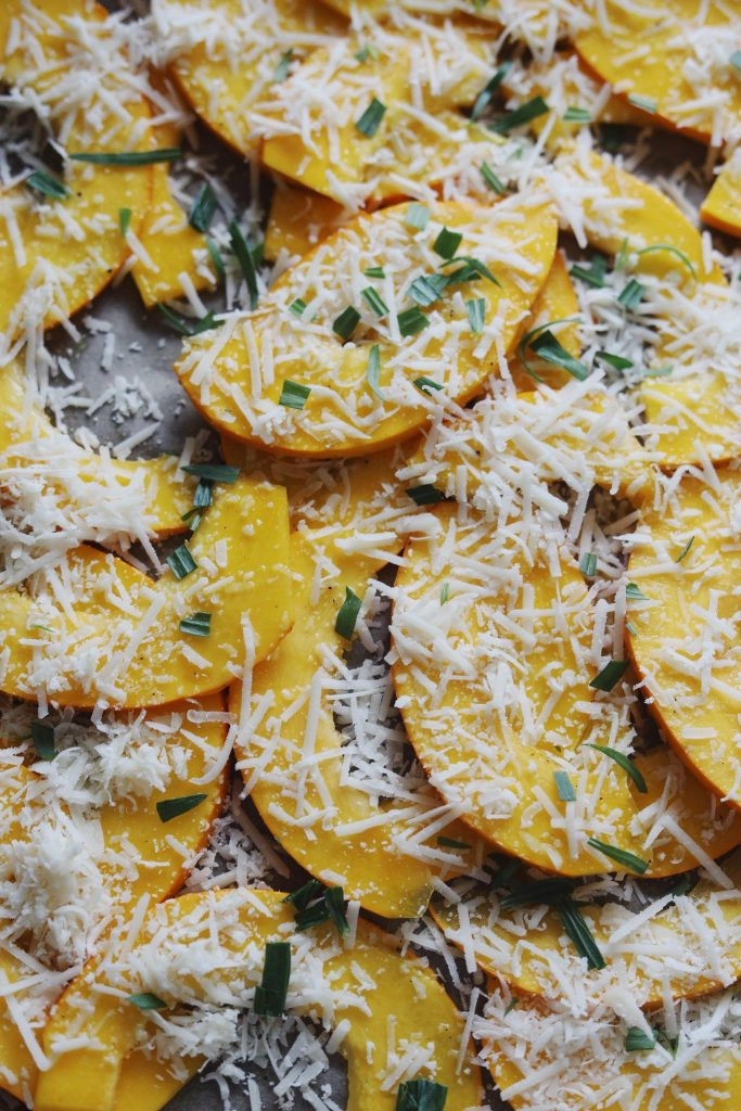 Græskarfritter med parmesan