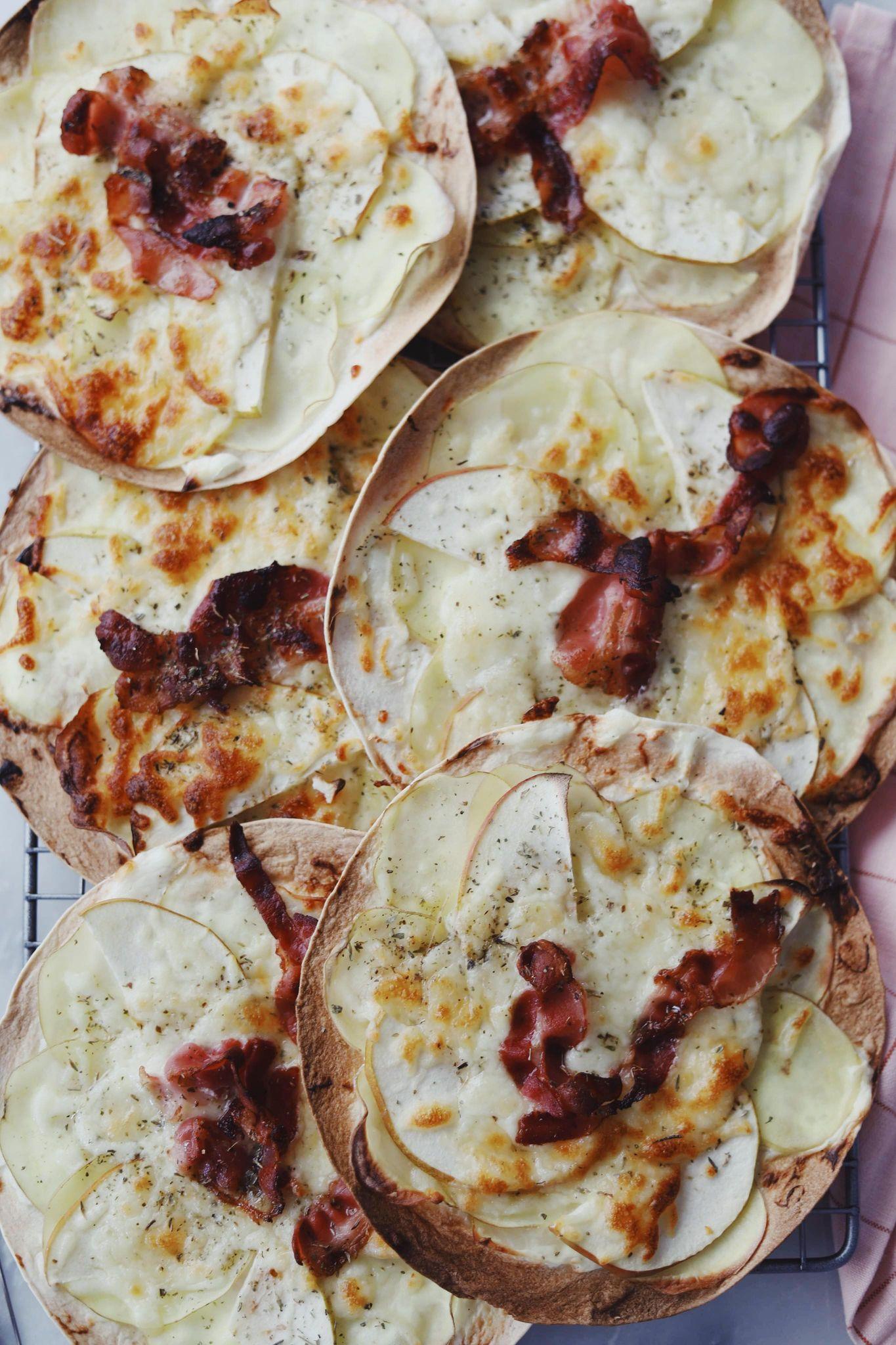 Tortilla pizzaer med kartoffel