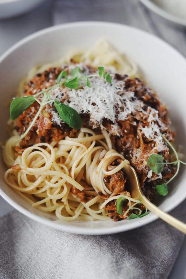 Vegetarisk bolognese med linser