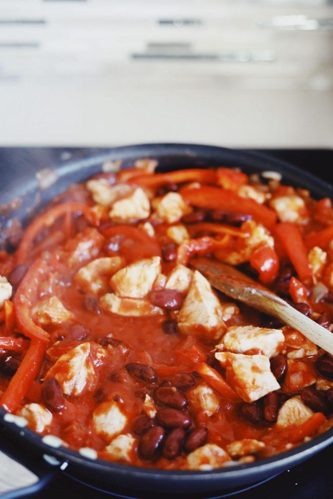 Enchiladas med kylling og bønner