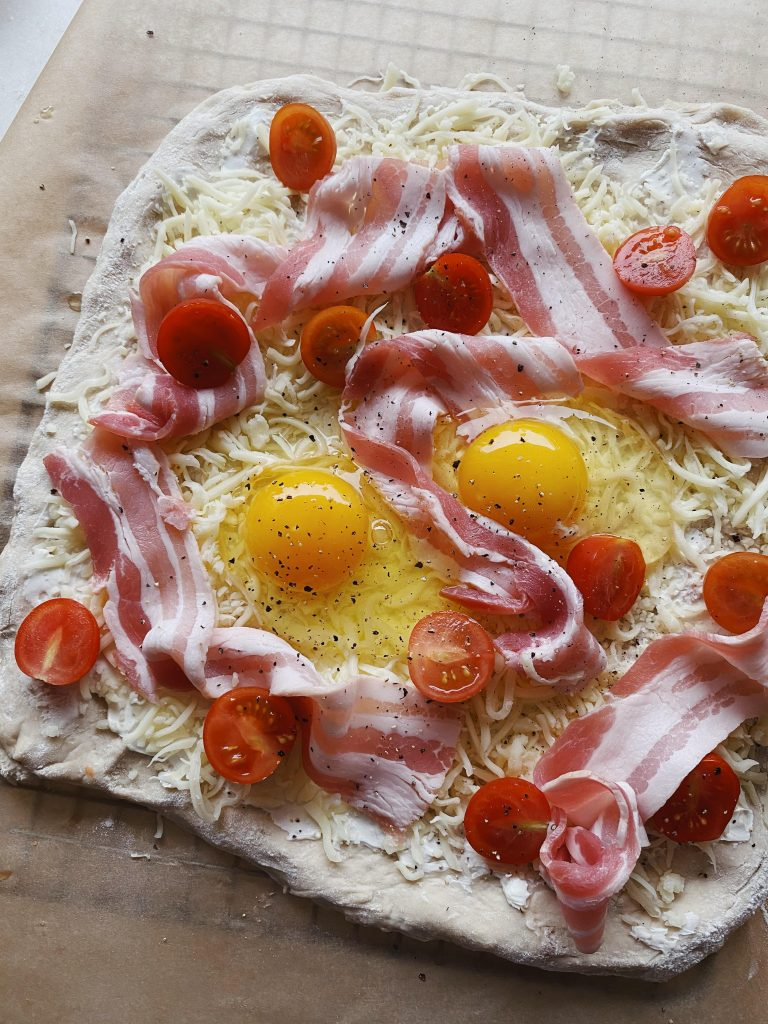 Morgenmadspizza