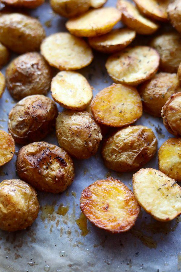 Sprøde ovnbagte kartofler