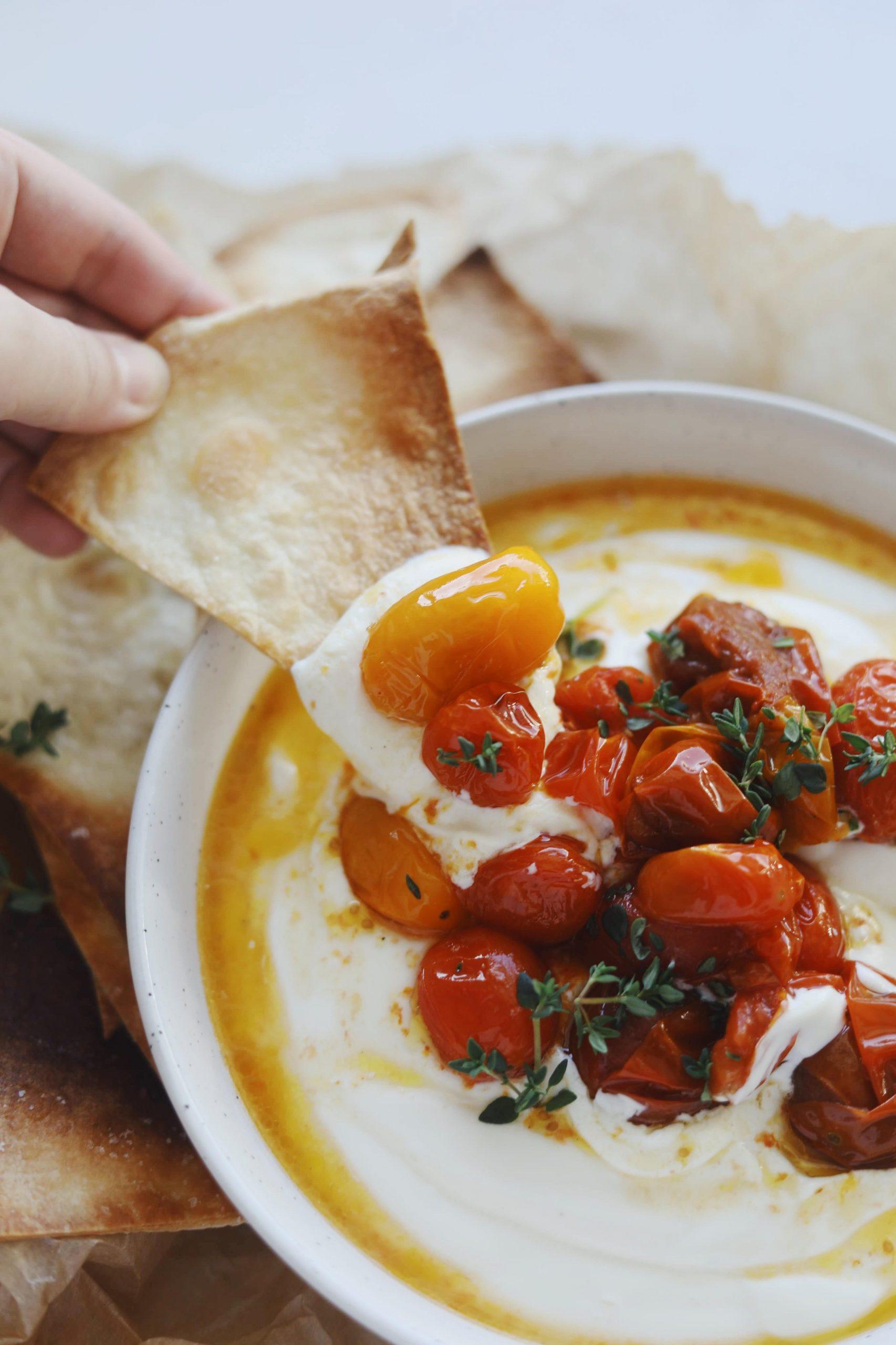 Fetadip med bagte tomater