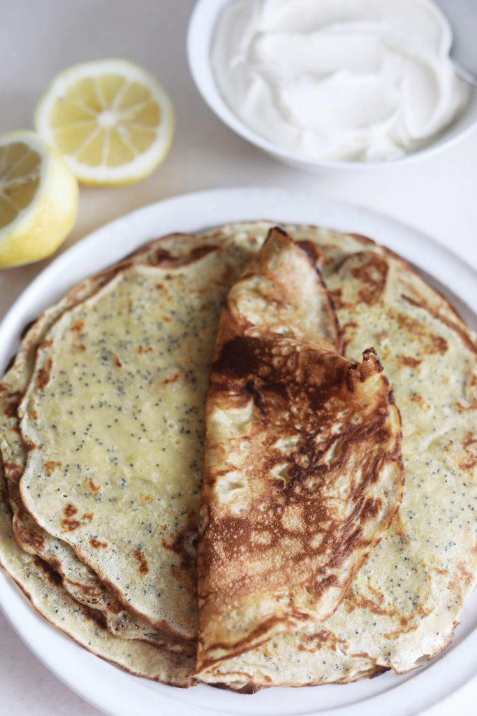 Pandekager med citron og birkes