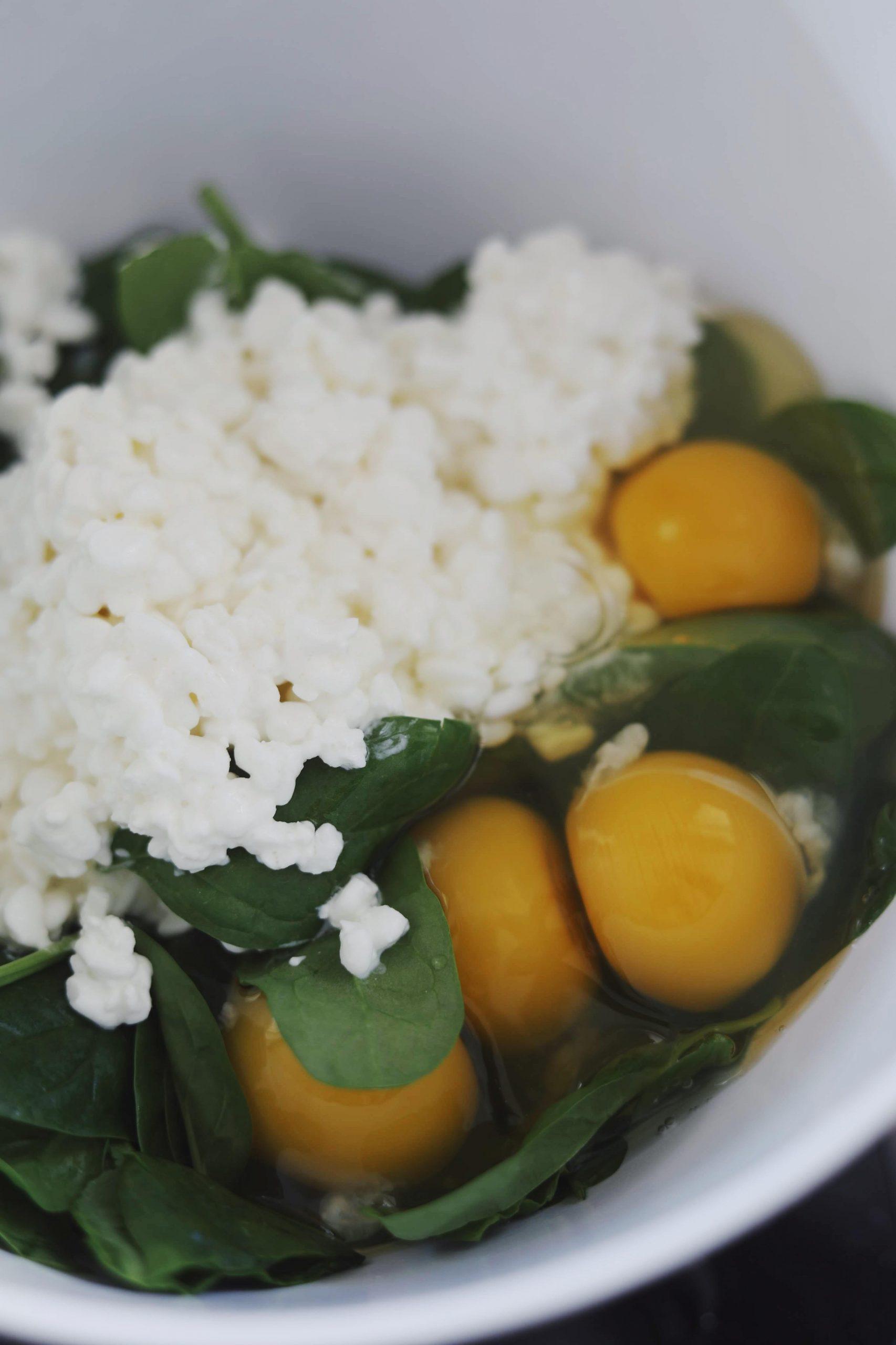 Proteinboller med spinat