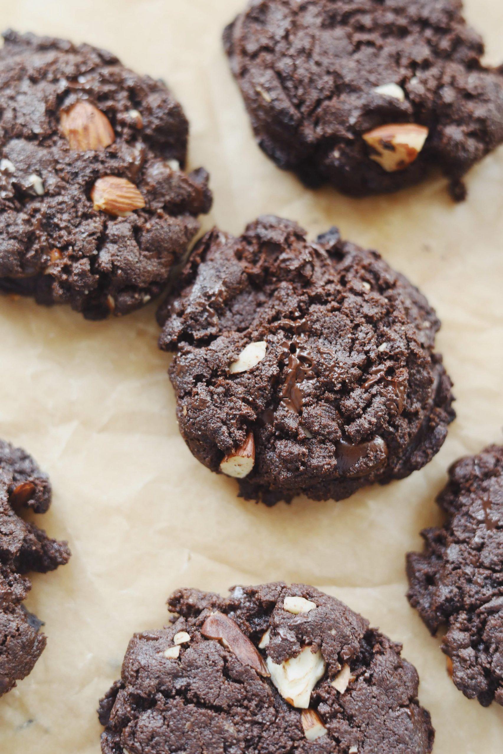 Rugcookies med chokolade