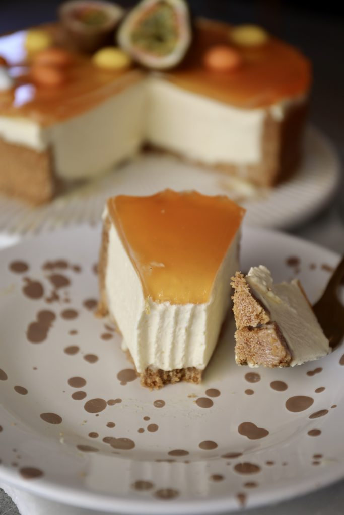 Cheesecake med passionsfrugt