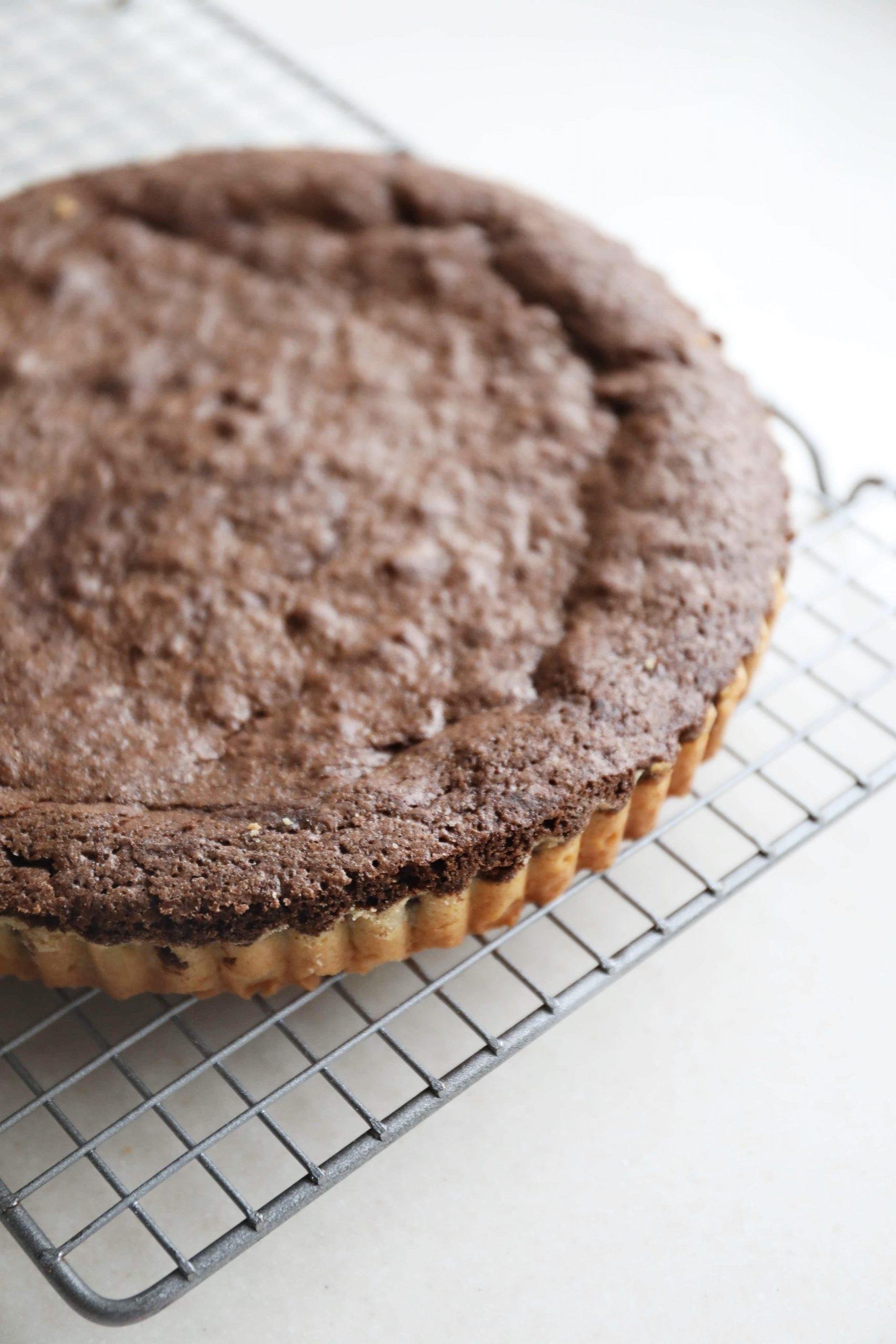 Jordbærtærte med brownie