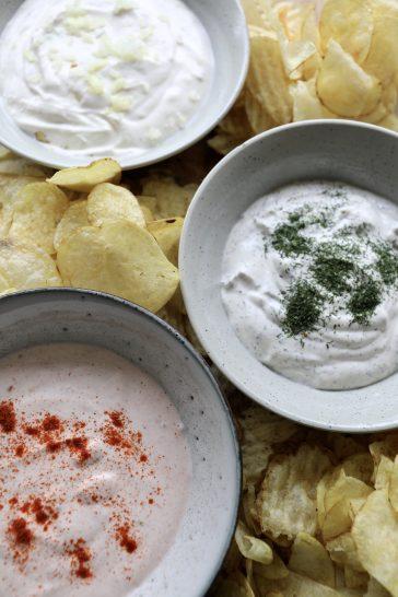 Hjemmelavet dip til chips