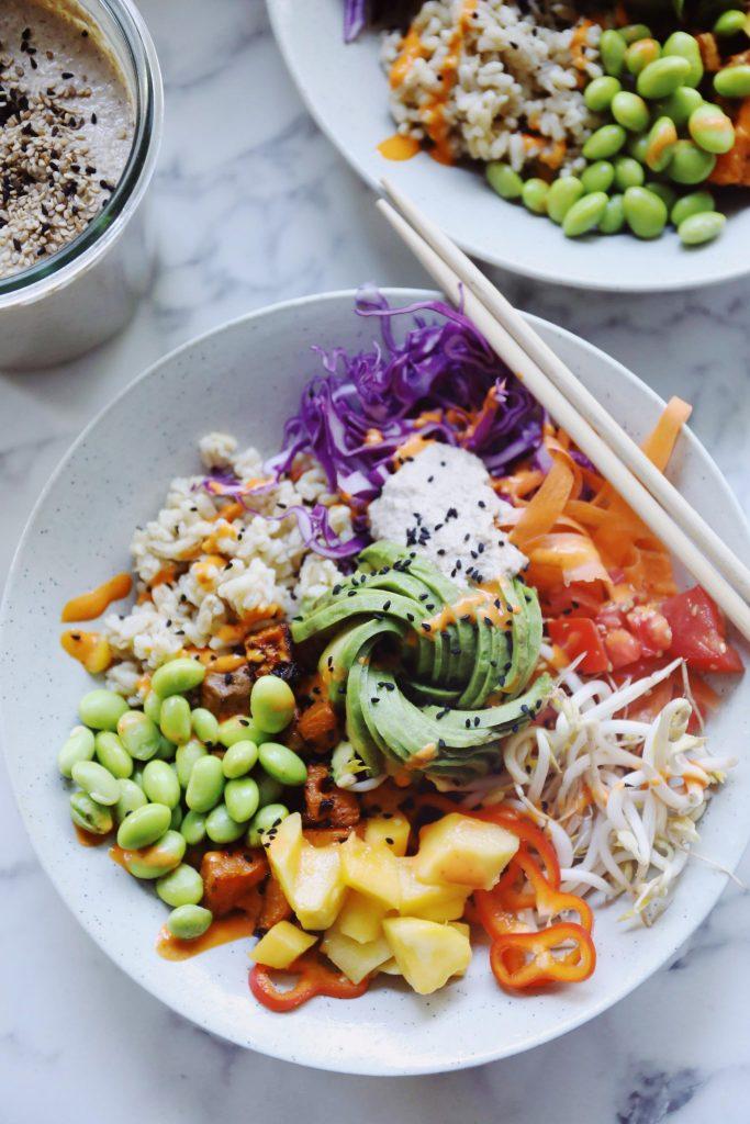 Salatbowls med havreris